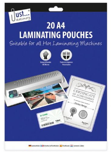 20 A4 Laminating Pouches